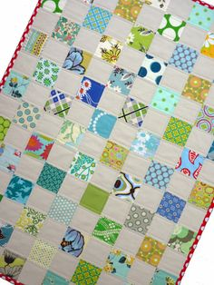 Baby Quilt ~ Linen and Cotton simply sweet....smiles