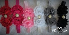 Shabby Chic Flower Headband, Baby Headband, Newborn Photo Prop Headband, Child Headband, Little Girl Headband, Flower Headband