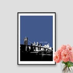 New York Print Skyline NY Instant Download New by AskPrintables