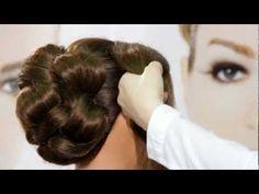 Brautfrisur mit Schleier - Make-up Schule - Stylistenschule - YouTube