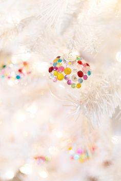 How to Make Rhinestone Christmas Tree Ornaments