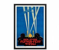 Thor Bøgelund Jensen, Tivoli plakat 1916   hos Plakatgalleri.dk