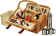 191e16b2b Picnic at Ascot Sussex Picnic Basket for Two with Coffee