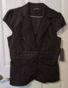 Ladies Tempted Hearts Light Cap Sleeve Top, Size XL, Brown, NWT's #TemptedHearts #Blouse #Casual