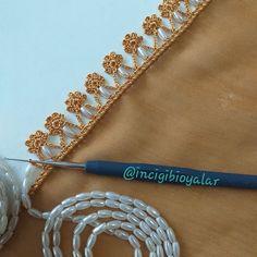 48 Gorgeous Crochet Needlework Models by Region Oyalarım Her Yöreye G Crochet Lace Edging, Diy Crochet, Crochet Stitches, Dainty Jewelry, Simple Jewelry, Beaded Flowers, Crochet Flowers, Baby Knitting Patterns, Crochet Patterns