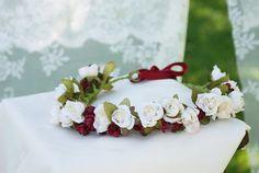 flower crown floral crown headband head piece wedding by mamwene