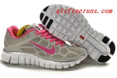 2365b0dbc06c 2012 Nike Free Run+ Womens Shoes Grey Pink Outlet Online