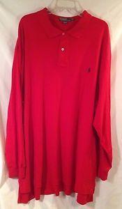 #Polo #RalphLauren #Mens #3XLT #Red Long Sleeve #Shirt #Big #Tall Blue Pony http://cgi.ebay.com/331759062485