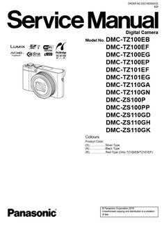 Panasonic Lumix DMC TZ70 TZ71 ZS50 Service Manual and