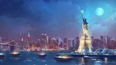 Help solve the mysterious kidnappings of children and Mafiosi in New York Mysteries: Secrets of the Mafia! Click the pin to play. Game Background Art, Episode Backgrounds, Mafia, Mysterious, Statue Of Liberty, The Secret, Mystery, New York, Play