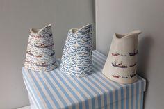 Sea themed new style jugs Sugar Bowl, Bowl Set, Ceramics, Sea, Handmade, Home Decor, Style, Ceramica, Swag