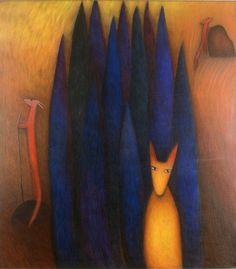 "Anna-Liisa Hakkarainen, ""Salometsän vartijat"" Anna, Trees, Painting, Tree Structure, Painting Art, Paintings, Painted Canvas, Wood, Drawings"