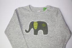 DIY Vorlage für Applikation Elefant