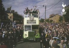 Bus with the Spurs players parading their double winning trophys in 1961 | Tottenham Hotspur Football Club