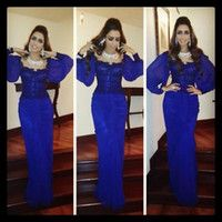 royal blue amazing arabic middle east evening dress
