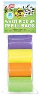 Bramton Bags on Board Rainbow Bag Refill Pack (60 bags)