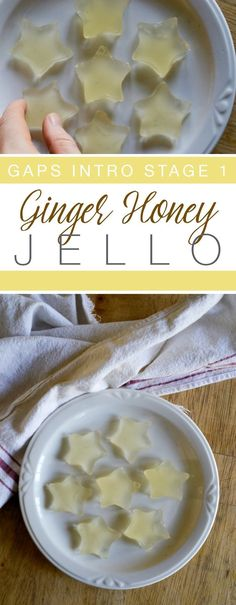 Whether you're going through the GAPS Intro Diet, or you just need a nice easy healing snack, this Ginger Honey Jello is for you! | RaiasRecipes.com