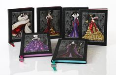My Designer Villains Notebooks: Queen of Hearts & Maleficent, thanks to my beau for surprising me. A place to capture all my wicked thoughts, ha ha! ;)