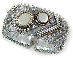 Silver Streak Bead Embroidery Instant Download Pattern by Ann Benson