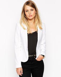 ASOS White Linen Blazer