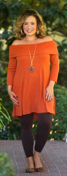 Family Feast Tunic - Rust - Perfectly Priscilla Boutique/150 plus size outfits