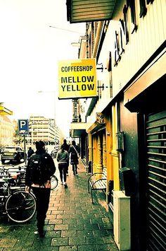"Amsterdam coffee shop ""Mellow Yellow"" yeah boi! http://damsterdamer.com/coffee-shop/"