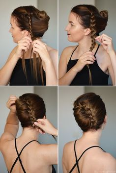 Hair tutorial updo french twists Ideas for 2019 French Roll Hairstyle, French Twist Hair, French Twists, French Braids, How To Twist Hair, French Roll Updo, Up Dos For Medium Hair, Medium Hair Styles, Curly Hair Styles