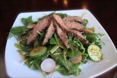 Steak and Arugula Salad.