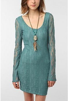 Staring at Stars Lace Bell-Sleeve Dress- something like this would be perf. Now to find it by saturday.