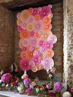 Paper Rosettes | Wedding Backdrops, Parties, Wall Art