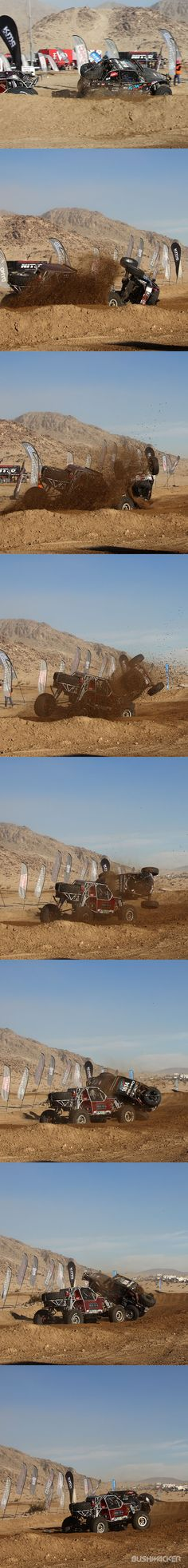 Crash sequence from the start of the 2015 King of the Hammers Race on February 6. No one was hurt. Read more on our blog!