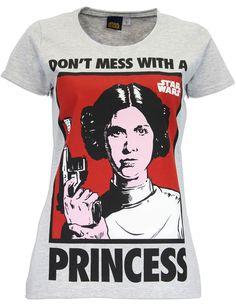Character Womens' Star Wars T-Shirt Princess Leia Size Large
