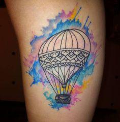Dad Tattoos, Sister Tattoos, Body Art Tattoos, Cool Tattoos, Tatoos, Loki Tattoo, Collage Sheet, Air Balloon Tattoo, Bohemian Tattoo