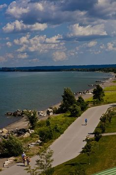 View of beautiful Confederation Park and Lake Ontario in Hamilton from The Lakeview.