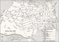 Map of Old South End 1965 Old Port, Port Elizabeth, My Heritage, Historical Pictures, Where The Heart Is, Family History, South Africa, Cape, Museum