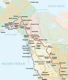 Alcan Highway Map 10 Best Alcan Highway images in 2018 | Alaska travel, Alcan