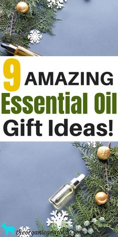 9 Essential Oil Gifts - The Organic Goat Lady Essential Oils For Mosquitoes, Essential Oils For Cough, Essential Oils Christmas, Essential Oil Perfume, Natural Essential Oils, Essential Oil Blends, Oil For Cough, Aromatherapy Recipes, Massage Oil