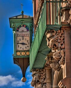 Everette Building Clock by Duane Carothers