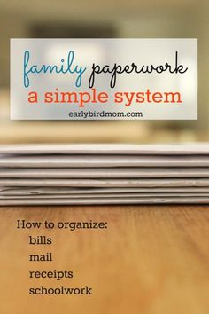 Paperwork is a major source of for families. Simplify your life at home with a simple DIY filing system and organize the paper clutter for good. Don't miss the free printable organizing checklist to get you started quickly!