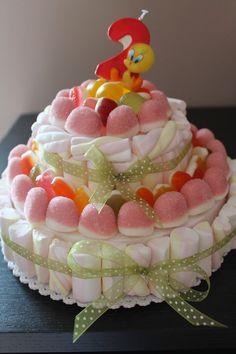 SERENA PASTA DI MAIS: TORTA DI CARAMELLE creata per il 2° compleanno del...