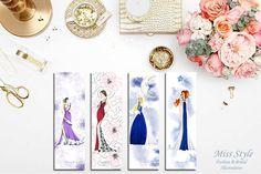 4 Bookmarks - Fashion Illustration, fashion illustrator by @MissStyleCreazioni ♥ ♥ ♥ ♥ ♥ ♥ www.etsy.com/shop/MissStyleCreazioni ♥ ♥ ♥ ♥ ♥ ♥ #fashionIllustrations #Etsy