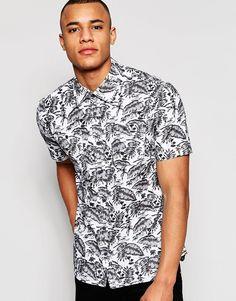 D-Struct+Hawaiian+Print+Short+Sleeve+Shirt