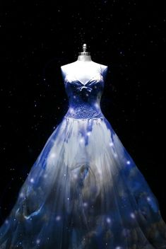 pretty dress...looks like there are lights in it