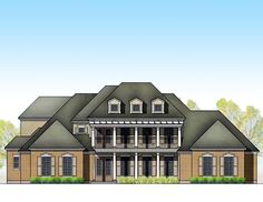 Grand Southern Home Plan - 35833WY | 1st Floor Master Suite, Bonus Room, Butler Walk-in Pantry, CAD Available, Corner Lot, Den-Office-Library-Study, Luxury, MBR Sitting Area, Media-Game-Home Theater, Multi Stairs to 2nd Floor, PDF, Southern, Traditional | Architectural Designs