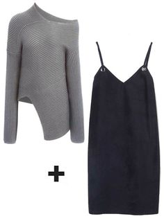 3 ways to pull off chunky sweaters and slip dresses.