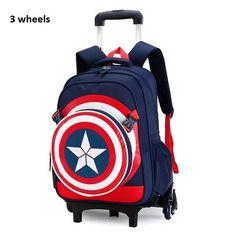 c9125a6e9f2 Rolling school backpacks girls and boys trolley bags school bag wheels  backpack schoolbag teenage girl bookbag mochila bolsos
