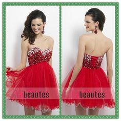 red homecoming dresses/prom dresses /cocktail dresses/party dresses  look bright and sexy.