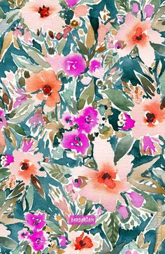 I'm in the lush tropical mood and I never want to leave. My florals feel like a vicarious vacation - I often get lost in them while I'm painting them. Ahhh being in flow is the best escape. #tropical #floralprint #colorful