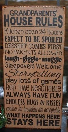 Grandparents' House Rules!
