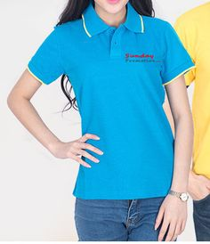65% Cotton 8-oz Trim Custom Logo Polo Shirts -  www.sundaypromotion.com